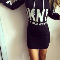 Cupshe Follow Love Long Sweatshirt Dress