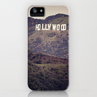Old Hollywood - Iphone 4, 4s, 5 & Samsung Galaxy s3, S4 Case - California, Hollywood Sign, Film, Cali, Movie, Cinema, Green, Vintage,