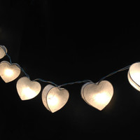 20 Lighting white heart colors Spring Paper String Lights Ideal for Christmas Lights, Party Lighting, Bedroom Decor
