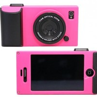 (HK) Peach Retro Stereo Camera Icam Shape Protector Protective Hard Case Cover for iPhone 4 4S 4G:Amazon:Cell Phones & Accessories