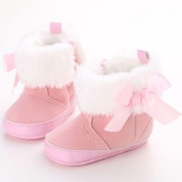 Baby Girl Boy Newborn Toddler Infant Winter Warm Snow Boots Toddler Infant Soft Socks Booties Shoes Baby Moccasins Shoes
