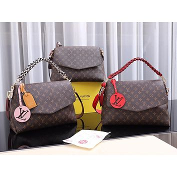 LV Louis Vuitton WOMEN'S MONOGAM CANVAS BEAUBOURG HANDBAG SHOULDER BAG