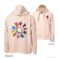 Grateful Dead - Dancing Bears Swirl Baja Hoodie