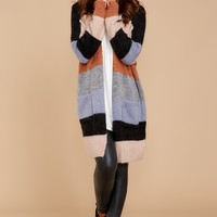 This Type Of Comfort Grey Multi Cardigan