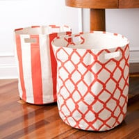 Pehr Canvas Basket-Orange - See Jane Work