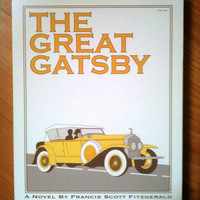 The Great Gatsby 8X10 inches print on wood block