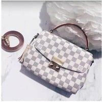 Louis Vuitton LV CROISETTE Damier Azur Canvas Crossbody Shoulder Bag