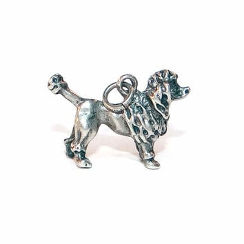 Vintage Sterling Silver Poodle Show Dog Charm by Fort