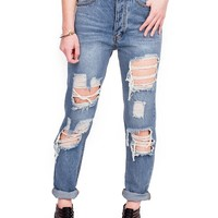 Collapse High Waist Girlfriend Jeans