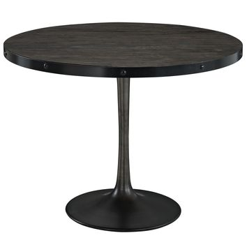 """Drive 40"""" Round Wood Top Dining Table Black EEI-1197-BLK-SET"""