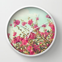 blowing in the wind Wall Clock by Sylvia Cook Photography