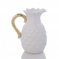 Lille Pitcher Ivory and Gold
