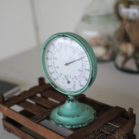 Rustic Teal Thermometer
