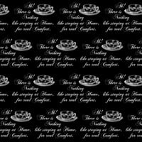 Jane Austen Home Comfort Teacup black - 13moons_design - Spoonflower