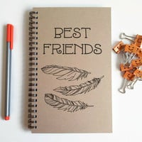 Best friends, feathers, bff gift