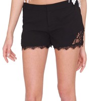 Soft Side Of Me Shorts - Black Lace