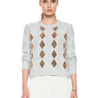 Right Now Merino Wool Sweater in Grey Marle