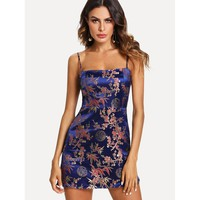 Satin Jacquard Cami Dress