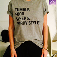 Tumblr food sleep and harry styles t-shirts for women tshirts shirts gifts womens tops girls tumblr funny fangirls teenagers teens