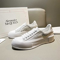 Alexander McQueen  Women Casual Shoes Boots fashionable casual leather01