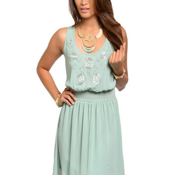 Lost In Love Dress: Sage