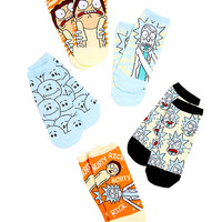 Rick And Morty No-Show Socks 5 Pair