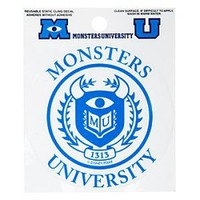 Monsters University Window Cling Decal | Disney Store