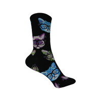Kittenster Crew Socks in Black