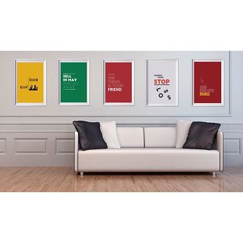 STOCK MARKET SAYINGS POSTER PACK.