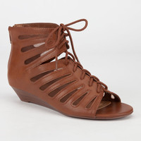 City Classified Beyond Womens Sandals Cognac  In Sizes