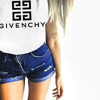 Givenchy Freshion Women Men Tee Shirt Top Print Sweatershirt