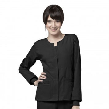8114 - Four-Stretch Sporty Button Front Jacket