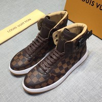 LOUI* VUTTO*  Men Fashion Boots fashionable Casual leather Breathable Sneakers Running Shoes