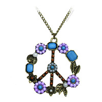 Vintage Boho Peace Necklace on Sale for $9.99 at HippieShop.com