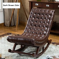Tufted Designed Comfortable Rocking Chair