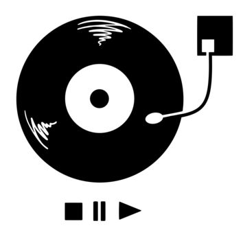 Vinyl Record Player Wall Decal. #OS_MB929