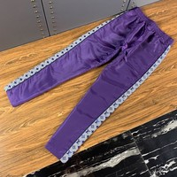 LV Louis Vuitton Newest Hot Sale Men Casual Print Pants Trousers Purple