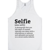 Selfie Dictionary Definition Meaning Tank Top (IDD272318)-Tank