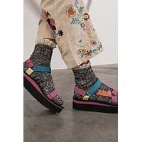 Free People Firecracker Flecked Ruffle Socks