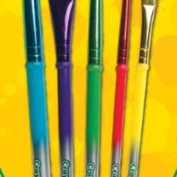 Crayola 5ct Art and Craft Brush Set