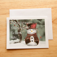 Naughty Christmas Card, Dirty Card, Boyfriend Gift, Anal, Card For Husband, Mature Card, Gift For Him, Christmas Gift, Naughty Present
