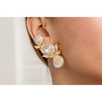Natural Baroque Pearl Magadi Climber Earrings