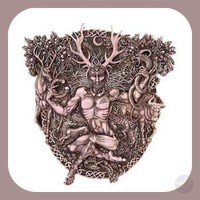 Horned God Cernunnos Wall Plaque