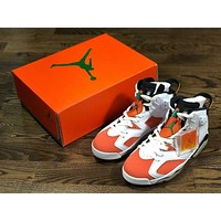 Original Air Jordan 6 Gatorade AJ6 White orange