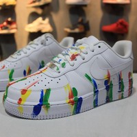 Nike Air Force 1 Low Customized White Camo Graffiti Sport AF1 Shoes - Sale