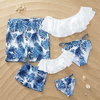 Breezy Palm Leaf Family Matching Swimsuit at PatPat.com