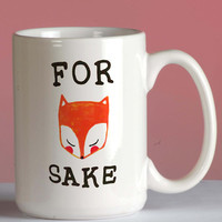 For Fox Sake Mug mug coffee, mug tea, size 8,2 x 9,5 cm