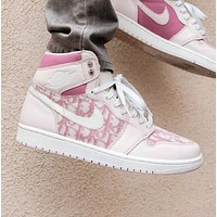 Dior X Air Jordan 1 Women Men Sneakers Sport Shoes Gym shoes