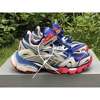 New Season Balenciaga Track 2 Trainers Grey/ Blue/ Red - Best Online Sale