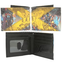 Licensed cool Marvel X-MEN Movie Characters Faux Leather Bi-fold Bifold Billfold Mens Wallet